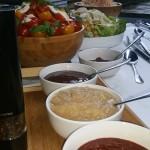 Sauces And Salads Set Up